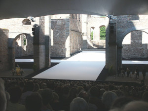 Die Festspielbühne in Bad Hersfeld