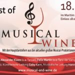 Verlosung: 1 x 2 Tickets für BEST OF MUSICAL AND WINE