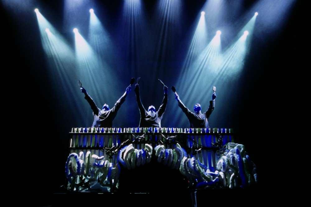 Blue Man Group auf der Bühne