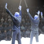 Blue Man Group vor Publikum