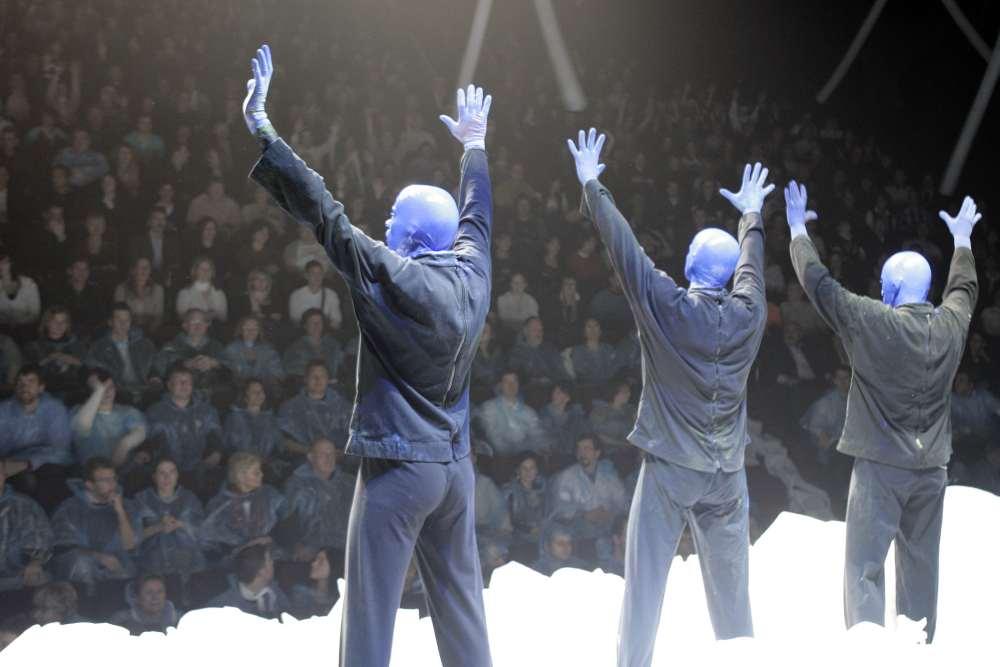 Blue Man Group vor Publikum