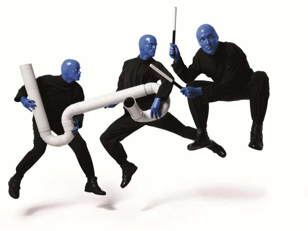Blue Man Group und Instrumente
