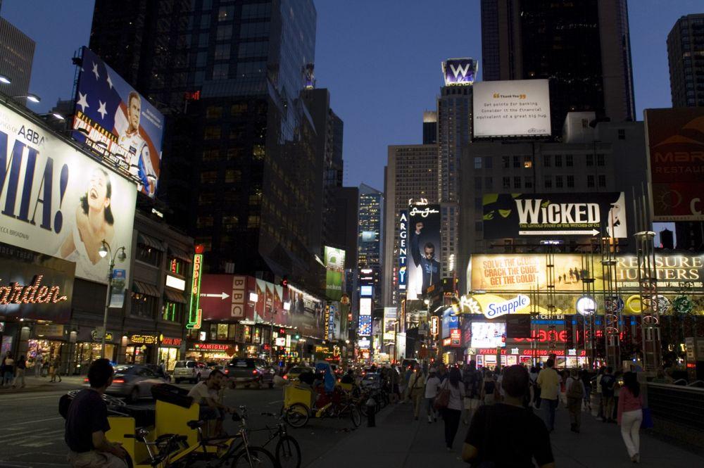 Broadway bei Nacht
