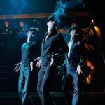 die Tänzer beim Stepptanz