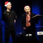 Philipp Polzin und Chris Murray lesen ein Weihnachtsgedicht