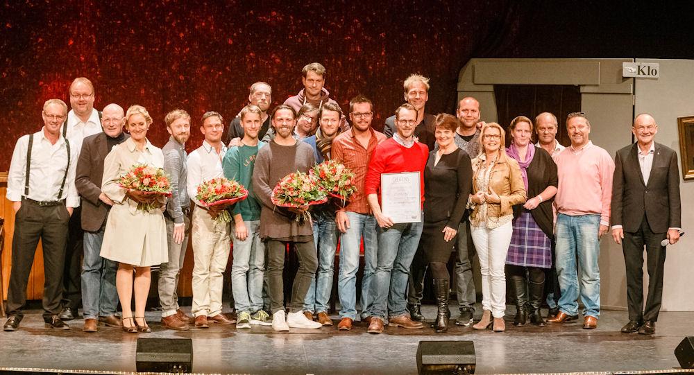 Siegerehrung beim Creators Wettbewerb 2015