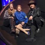 Dana und Emma Schweiger zu Besuch bei HINTERM HORIZONT