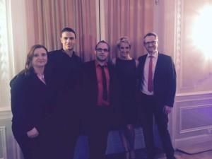 Gewinner des ersten Abend mit Gian Marco Schiatti und Melanie Ortner-Stassen