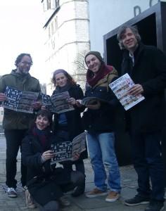 v.l.n.r.: Gunter Heun, Alice Hanimyan, Tabea Scholz, Fehmi Göklu und Christian Doll