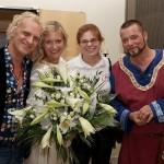 Gruppenbild mit Chris Murray, Barbara Döring, Anne Polifka und Frank Paetzold im Foyer