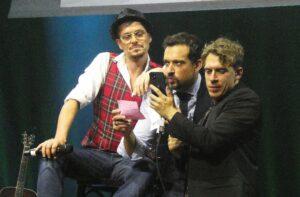 Felix, Max, David on stage