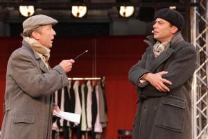 Harry Frommermann (Dirk Weiler, links) und Robert Bilberti (Daniel Dimitrow, rechts) treffen beim Vorsingen aufeinander