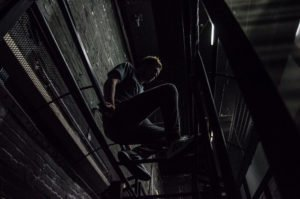 Marius auf der U-Bahn