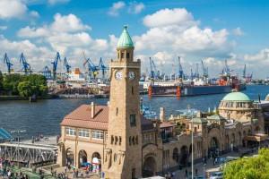 Hamburg Blick auf den Hafen