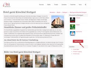 Hotel Detailseite Buchungs-Button Sidebar