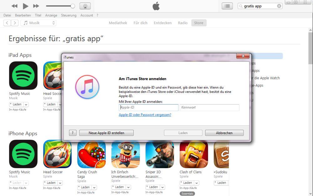 iTunes ID-Abfrage