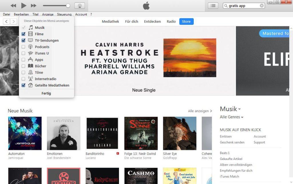 iTunes Podcast auswählen