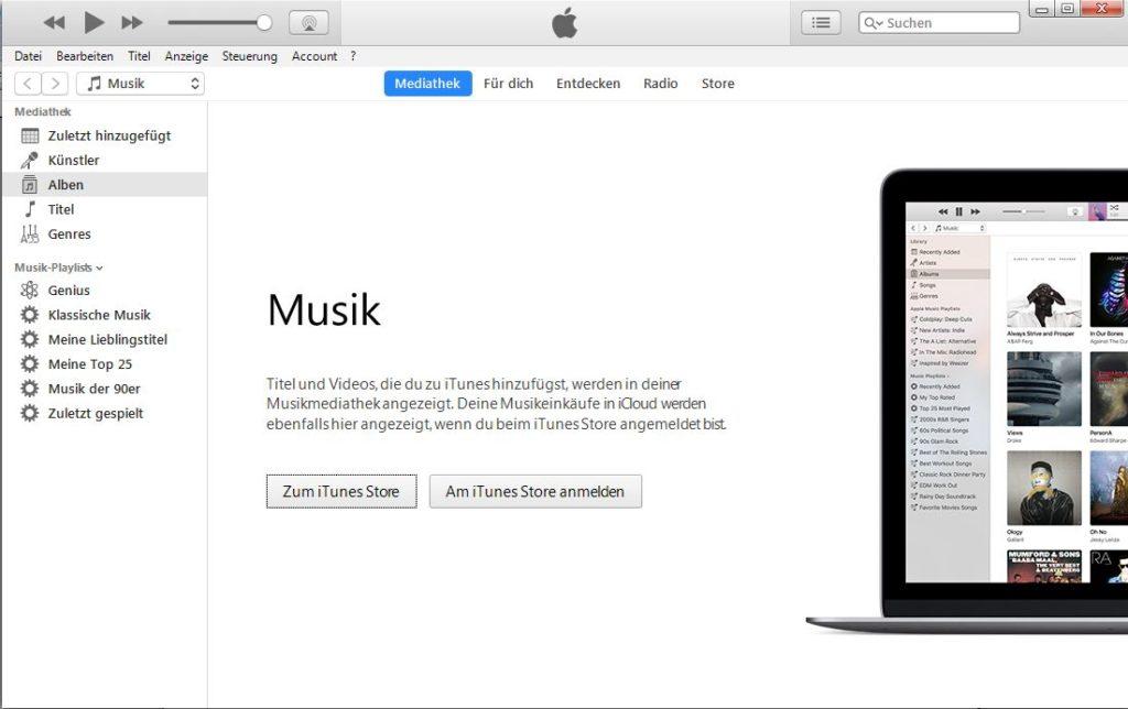 iTunes Store aufrufen
