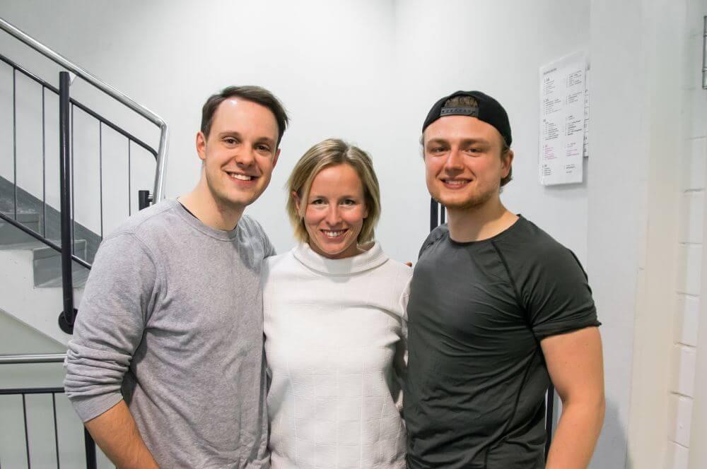 Jonas Hein, Chiara Cook und Kevin Thiel