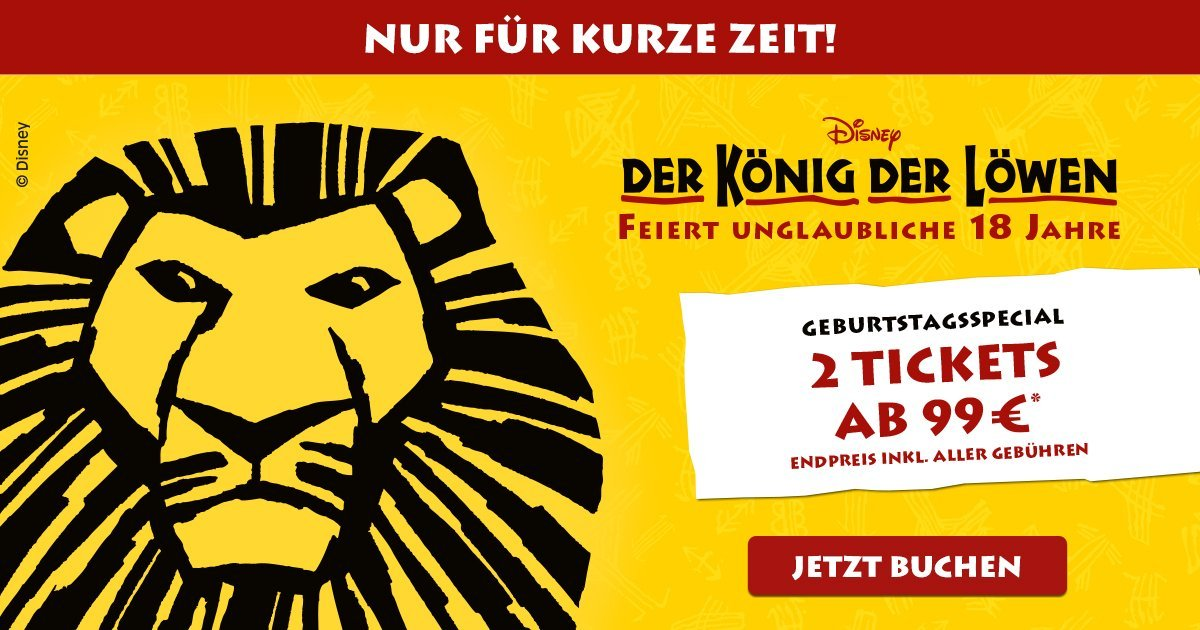 König der Löwen Geburtstagsspecial Banner