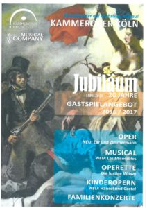 Les Miserables Werbematerial der Kammeroper Köln