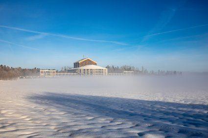 Ludwigs Festspielhaus Füssen im Schnee