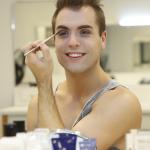 Marcel Brauneis beim MakeUp Workshop der AIDA Cruises