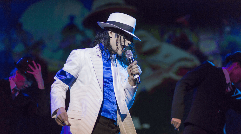 William Hall als Michael Jackson