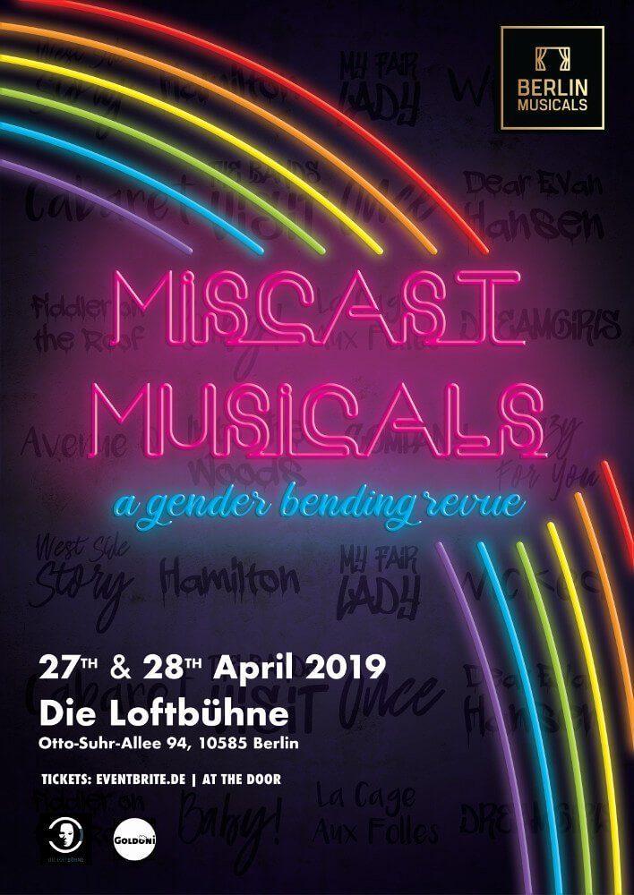 MISCAST MUSICALS Plakat