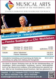 Workshop mit Femke Soetenga - Flyer