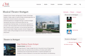 Musical-Theater Verlinkung der Premium Hotels