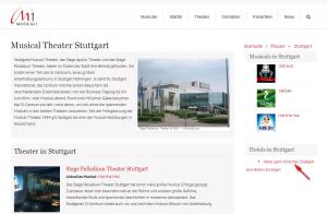 Musical-Theater Verlinkung der Premium Hotels