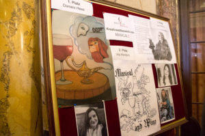 Musical1 Fotowand mit Gewinnspielbeiträgen