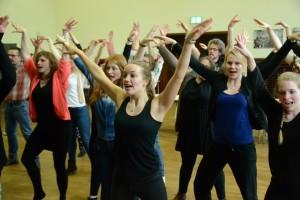 Proben zu Frankenstein Junior der Musical Inc