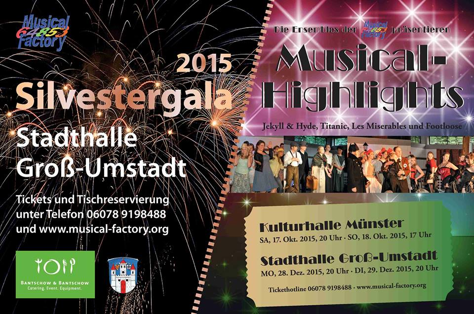 Musical-Highlights und Silvestergala