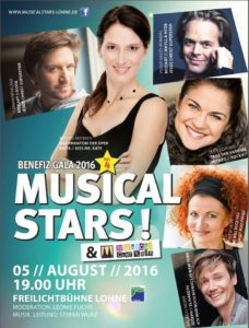 Musicalstars in Lohne Plakat