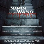NAMEN AN DER WAND – Musical im Horror-Format
