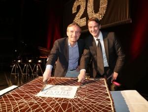 Oberbürgermeister Thomas Geisel und Theaterleiter Henning Pillekamp