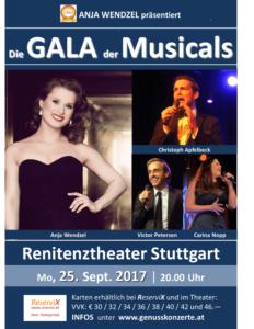 """Plakat """"Die Gala der Musicals"""""""