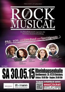 "Plakat ""Rock meets Musical"""