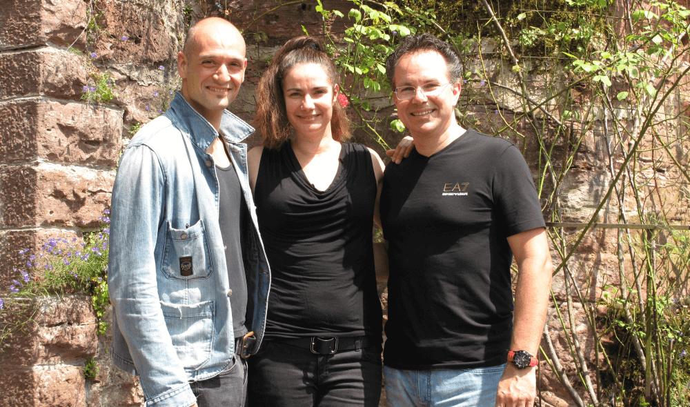 Drew Sarich, Ann Mandrella, Rainer Roos