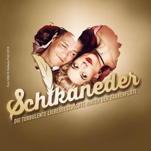 Das Logo des Musical SCHIKANEDER