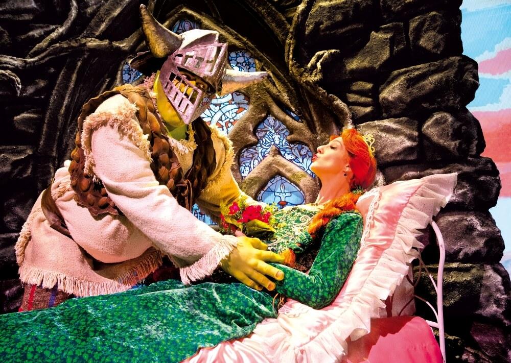 Shrek und Fiona vor dem ersten Kuss