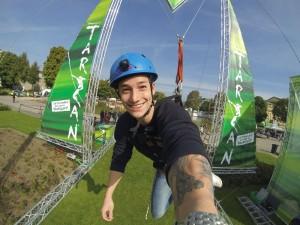Marcel Nguyen am Flying Rig