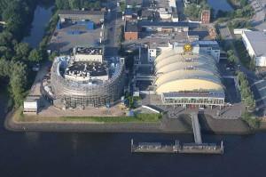 Die beiden Stage Theater im Hamburger Hafen