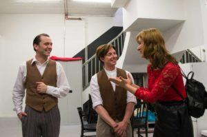 Gerrit, Kevin und Lidia Backstage bei Thrill me